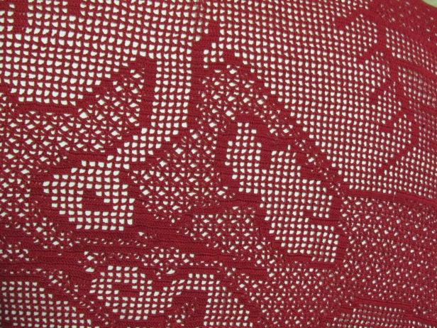 Cranes filet crochet detail